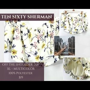 🆕 TEN SIXTY SHERMAN OFF THE SHOULDER 70%OFF